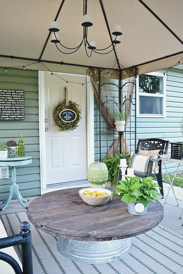 Back Patio Makeover  Use Thrifted Items To Make A Space Beautiful. You Do  Not