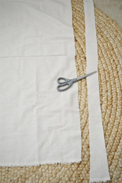 cut your yard of fabric into strips i chose to do my strips about 3 inches wide for all you ocd people out there you do not have to do this perfectly