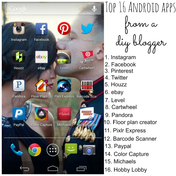 Top 16 Android apps