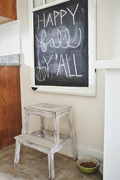 Ikea Hack: Bekvam stepstool makeover - easy makeover & this stool is less than $20 from Ikea!! - lizmarieblog.com