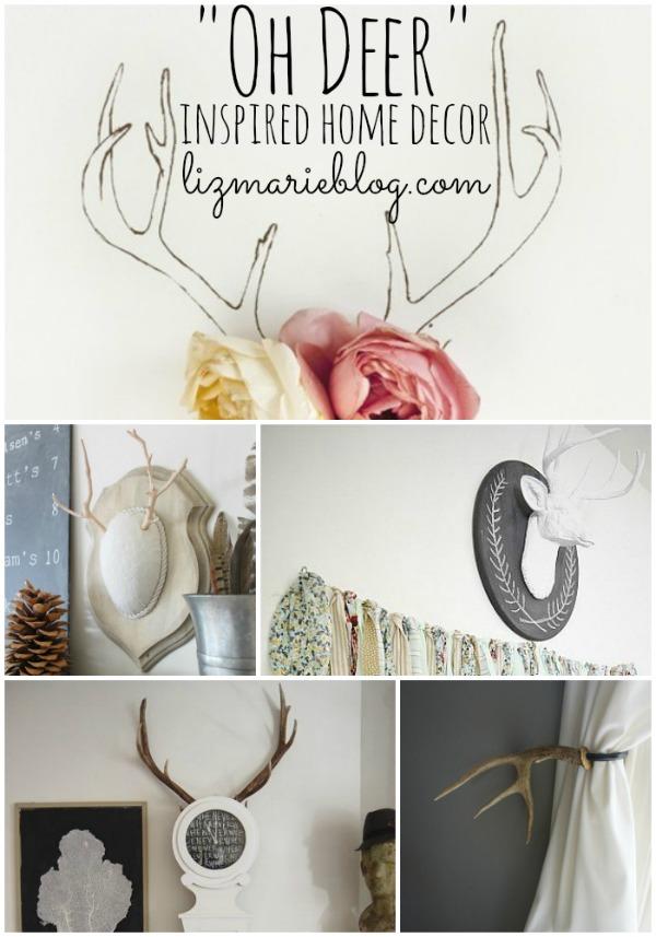 Deer inspired home decor - lizmarieblog.com