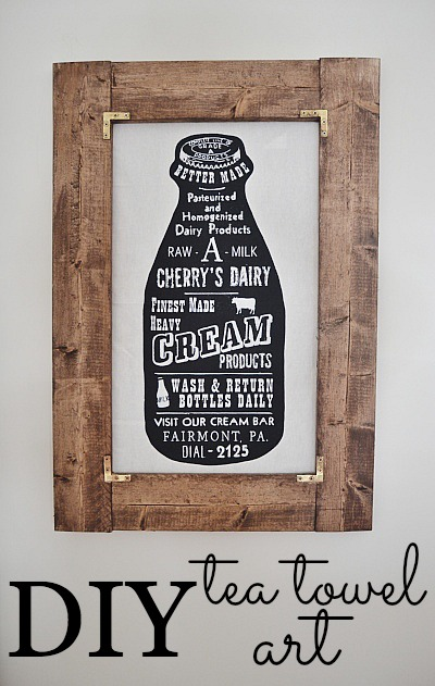 DIY tea towel art