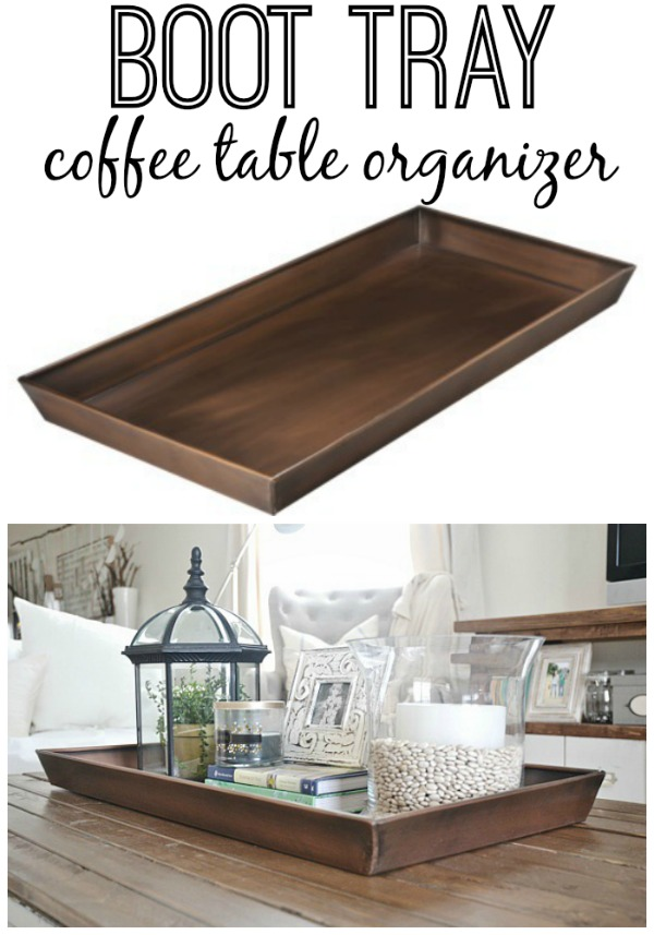 Etonnant DIY Boot Tray To Coffee Table Organizer