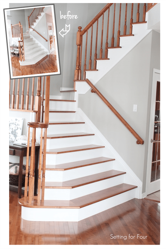 Stairs Makeover Before and After Carpet Replaced_thumb[5]