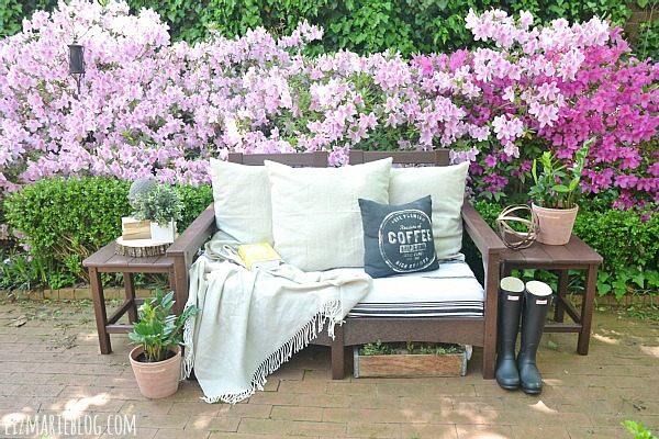 Stunning Lovely spring patio with eco friendly patio furniture lizmarieblog