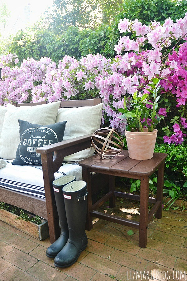 Popular Lovely spring patio with eco friendly patio furniture lizmarieblog
