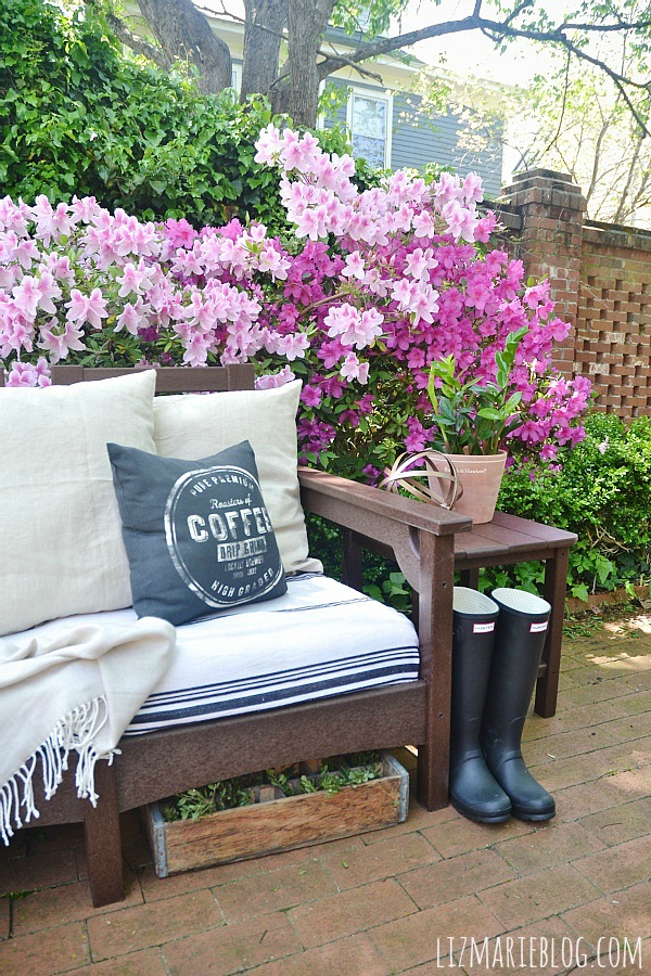 Cool Lovely spring patio with eco friendly patio furniture lizmarieblog