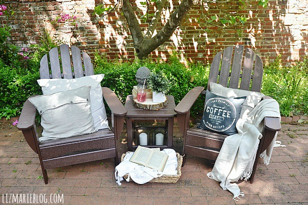 Perfect Lovely spring patio with eco friendly patio furniture lizmarieblog