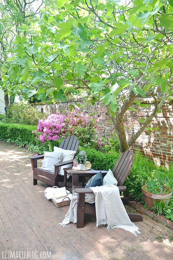 Great Lovely spring patio with eco friendly patio furniture lizmarieblog