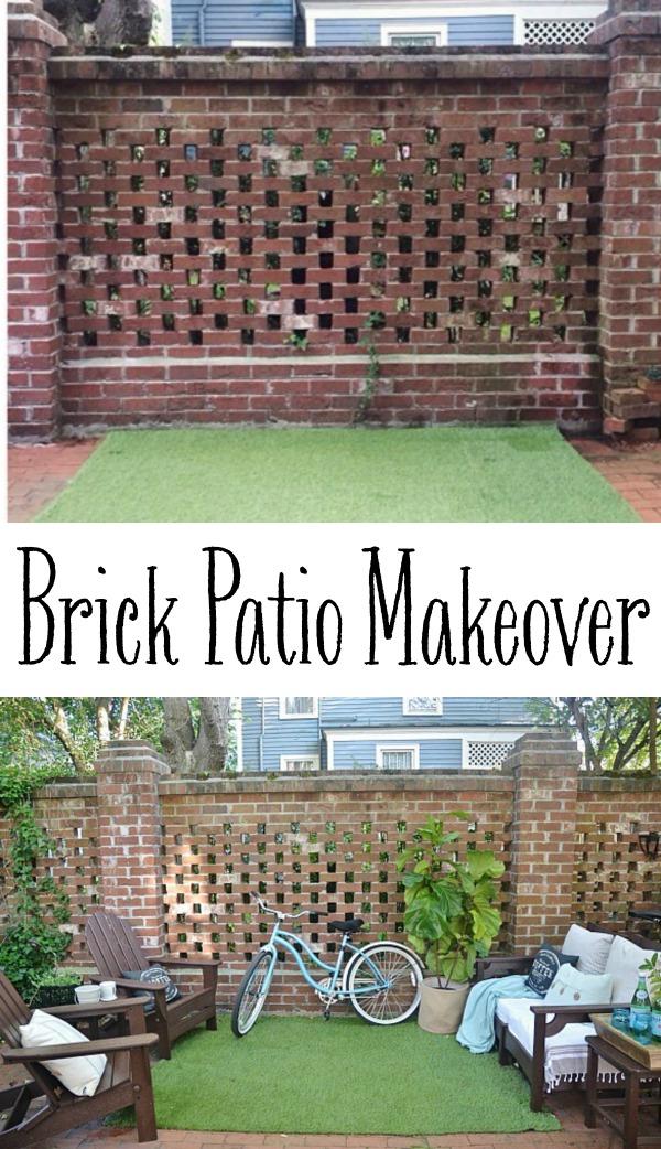 Brick Patio Makeover   Lizmarieblog