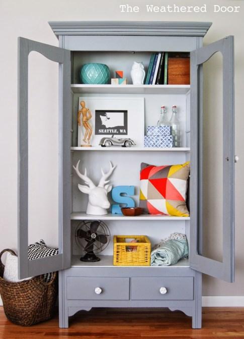 Mary's Grey on Grey Cabinet  WDb -9