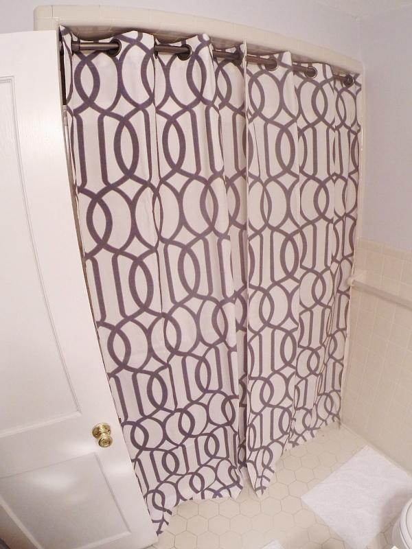 Lmb Rental Bathroom Makeover Pt 3 Shower Curtain