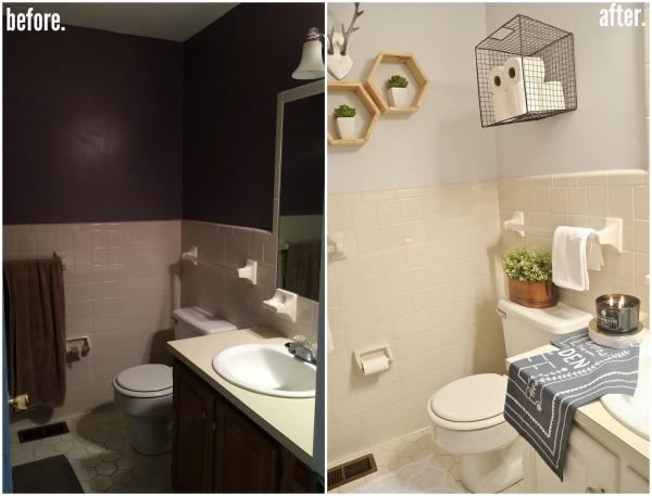 LMB Rental Bathroom Makeover Pt Final Reveal Liz Marie Blog - Rental bathroom makeover