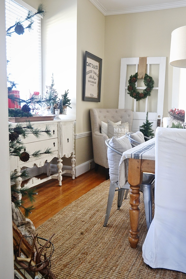 simple rustic christmas dining room decor liz marie blog