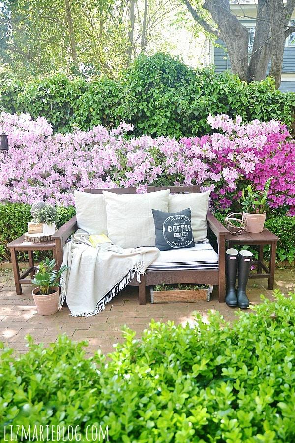 Spring back patio.