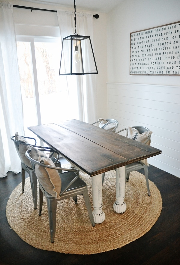 new farmhouse table dining room the before liz marie blog