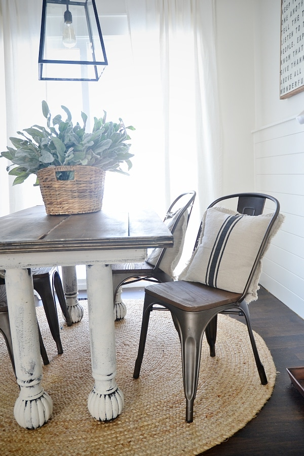 Beau Rustic Metal U0026 Wood Dining Chairs With A Farmhouse Table.