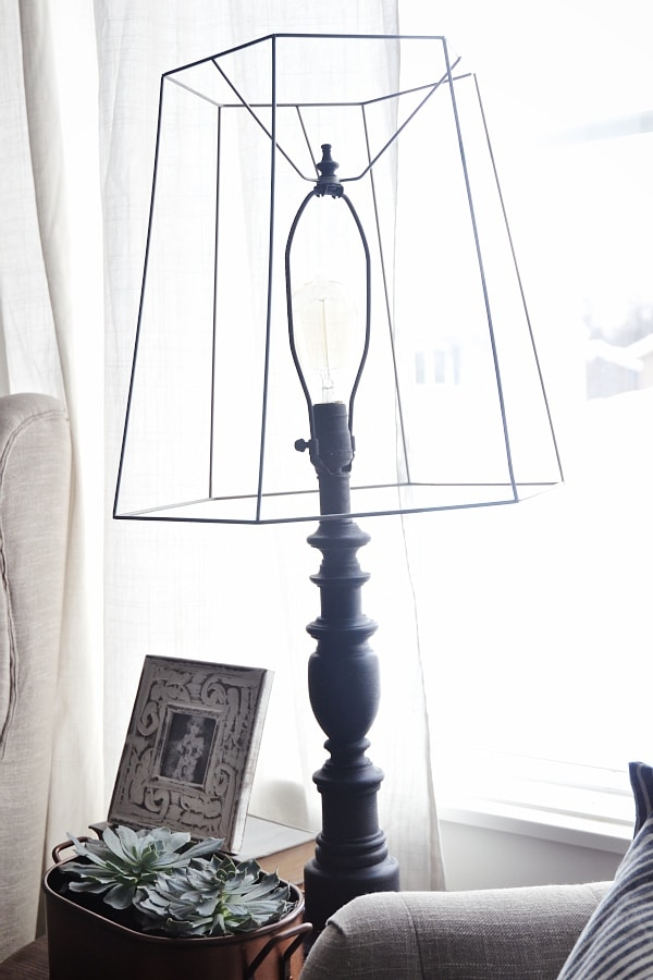 DIY industrial style lamp - so simple to do with old lamps.. DON'T THROW THEM AWAY!