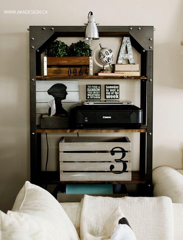 rustic-industrial-shelf-styling