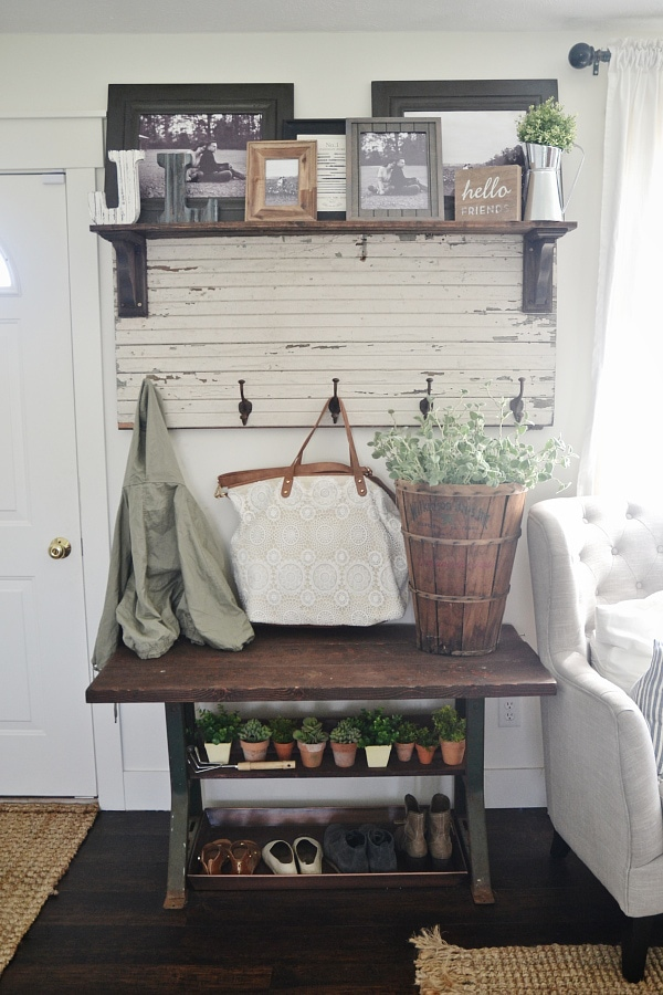pin transformed entryway built gorgeous drawers took into with discarded side dresser the storage bliss cottage in a quirky an and farmhouse table bench old