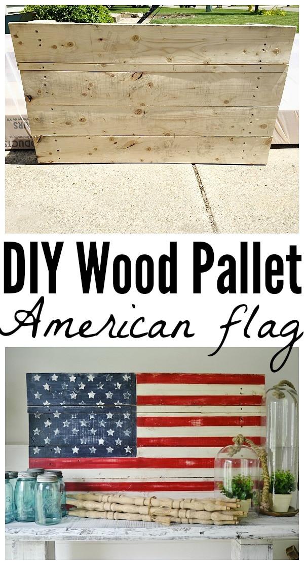 DIY Wood Pallet American Flag - Liz Marie Blog