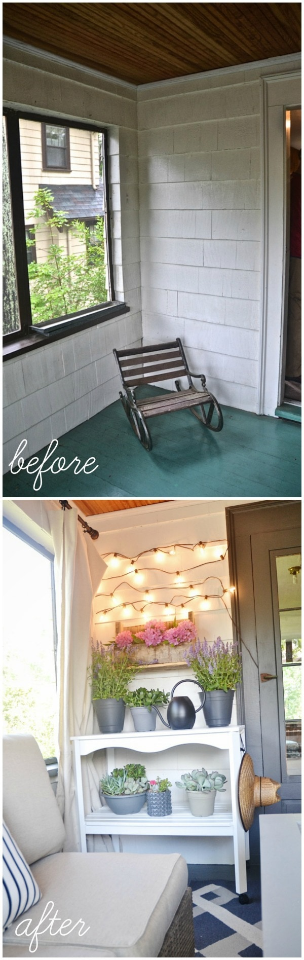Dramatic sunroom makeover -  A must see!