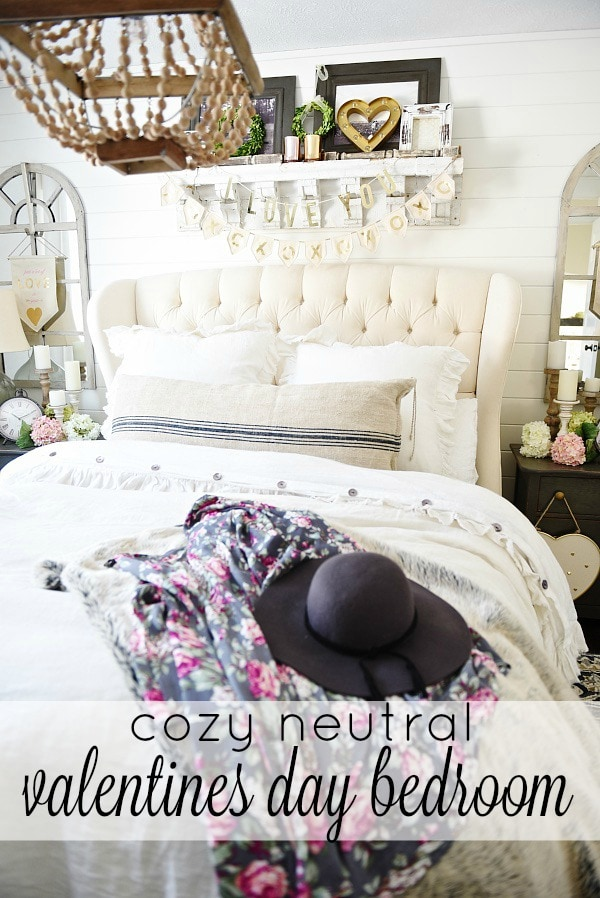 Cozy Cottage Valentines Day Bedroom Decor