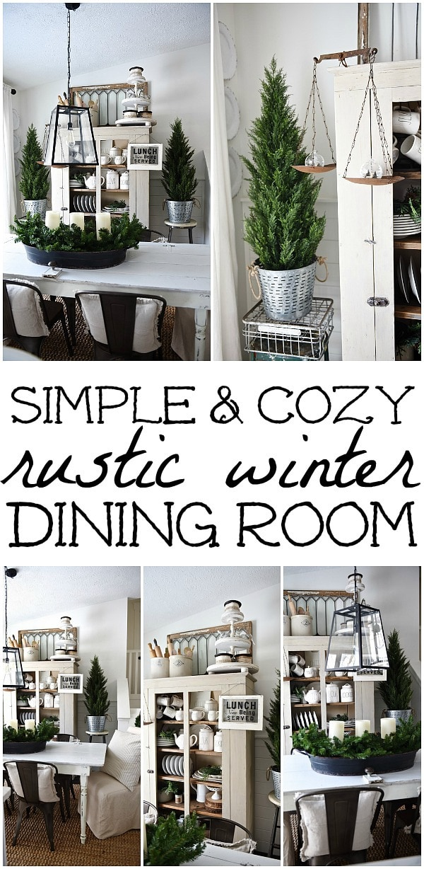 Cozy Dining Space: Simply Cozy Winter Dining Room
