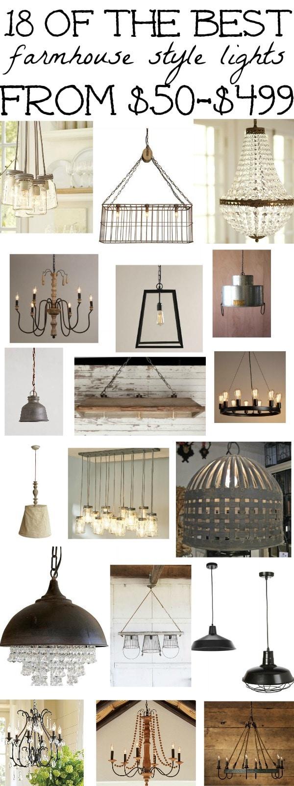 18 of the best farmhouse light fixtures