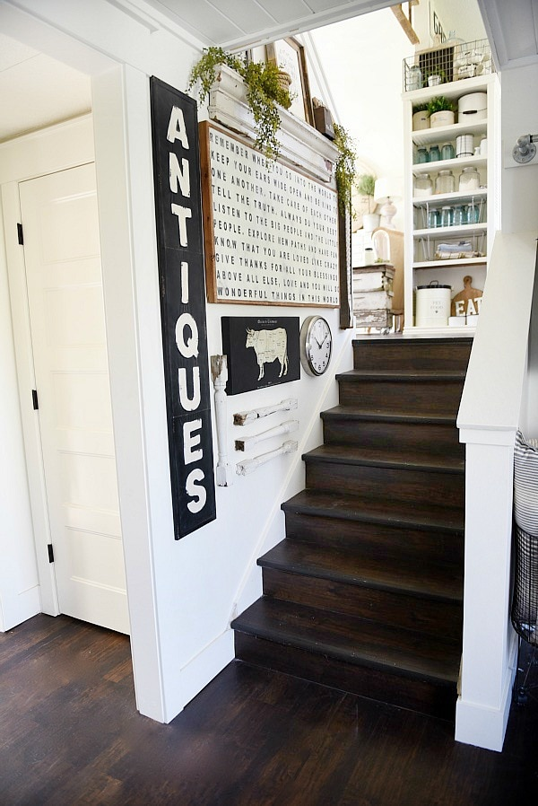 Farmhouse Style Staircase Gallery Wall - Liz Marie Blog