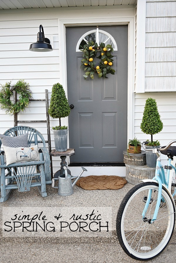 Lovely Simple Spring Summer Porch A Great Farmhouse Style Cottage Front