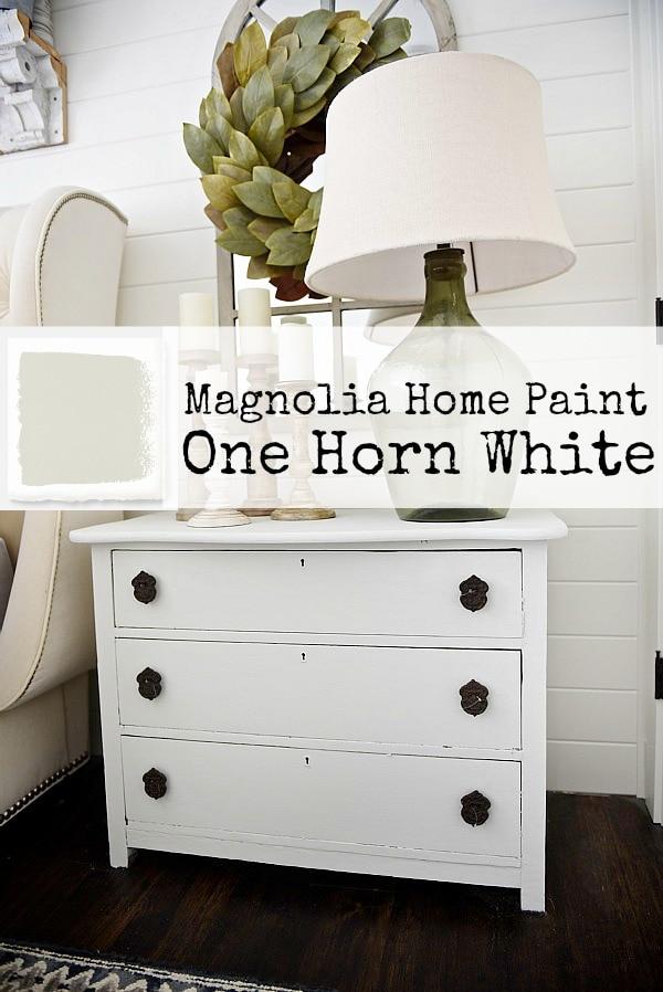 One Horn White Nightstand Makeover Liz Marie Blog