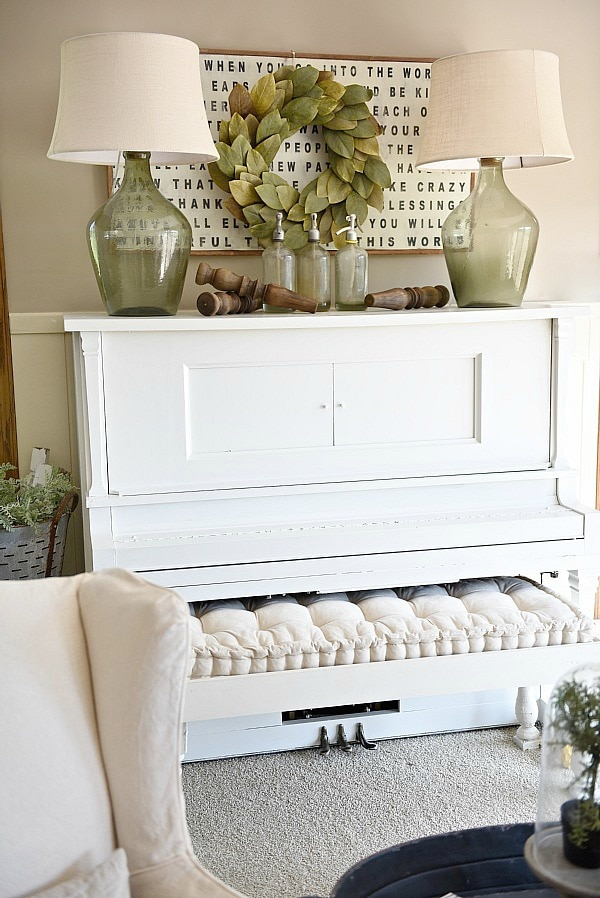 Piano Decor Farmhouse Living Room Liz Marie Blog