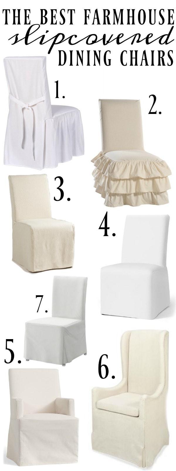Farmhouse Style Slipcover Dining Chairs Liz Marie Blog