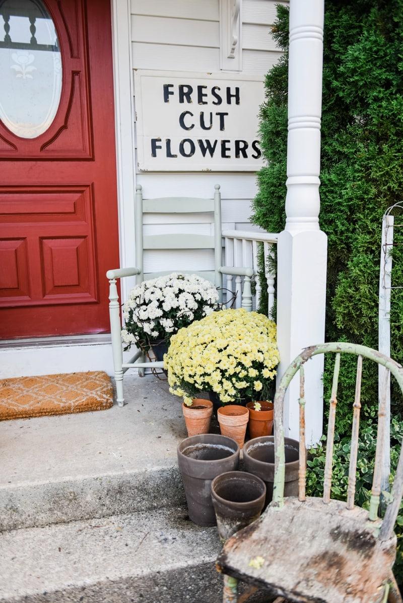 Liz Marie Blog Porch Fresh Cut Flowers Sign_0004