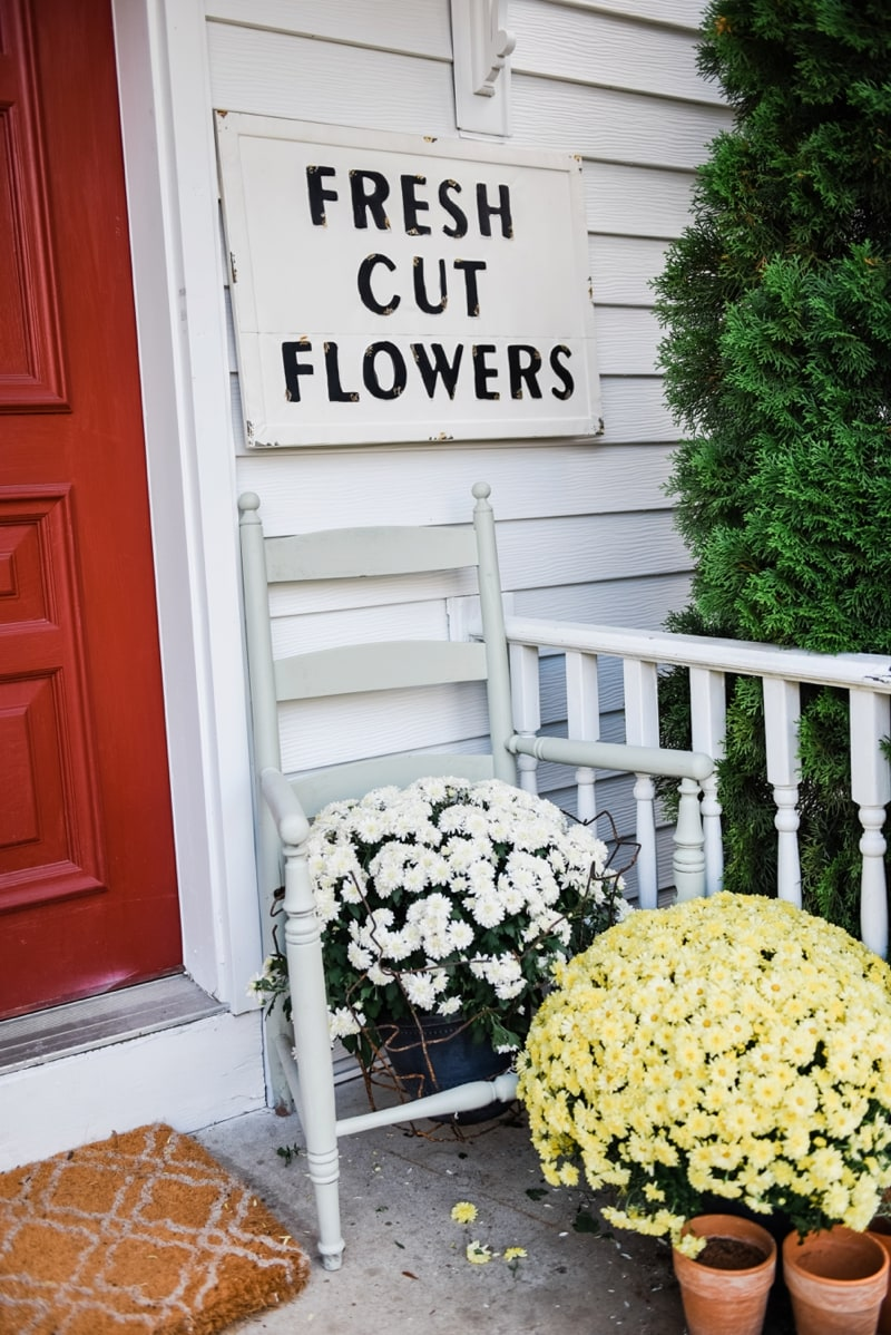 Liz Marie Blog Porch Fresh Cut Flowers Sign_0005