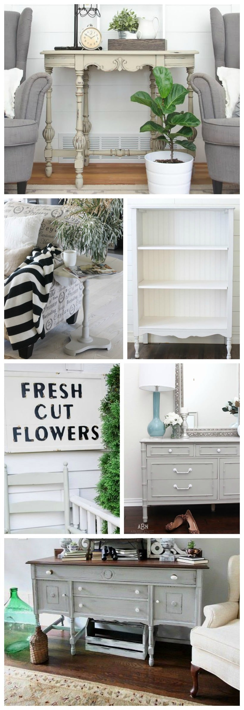 Chalk paint Farmhouse makeovers - Great inspiration for cottage & farmhouse decor