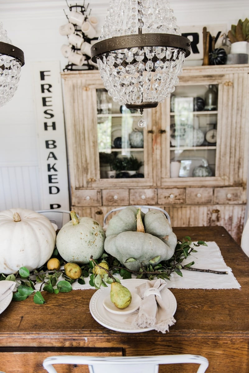 happy fall rustic pumpkin u0026 pear farmhouse table liz marie blog