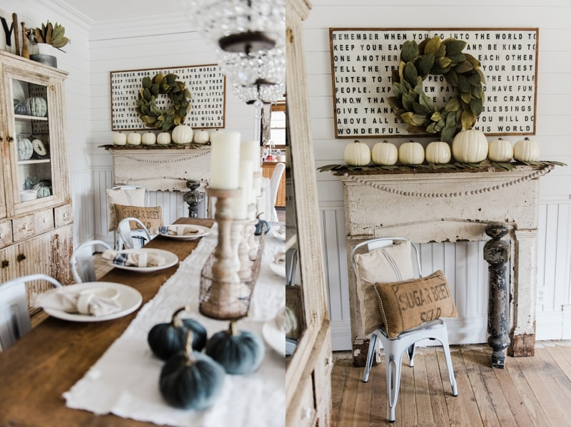 Simple Rustic Fall Mantel Liz Marie Blog