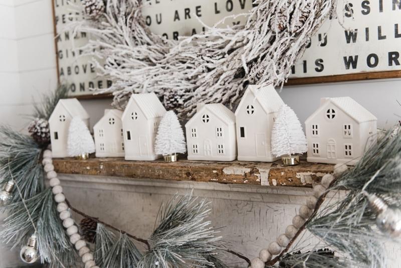 Farmhouse Christmas Village Mantel Liz Marie Blog