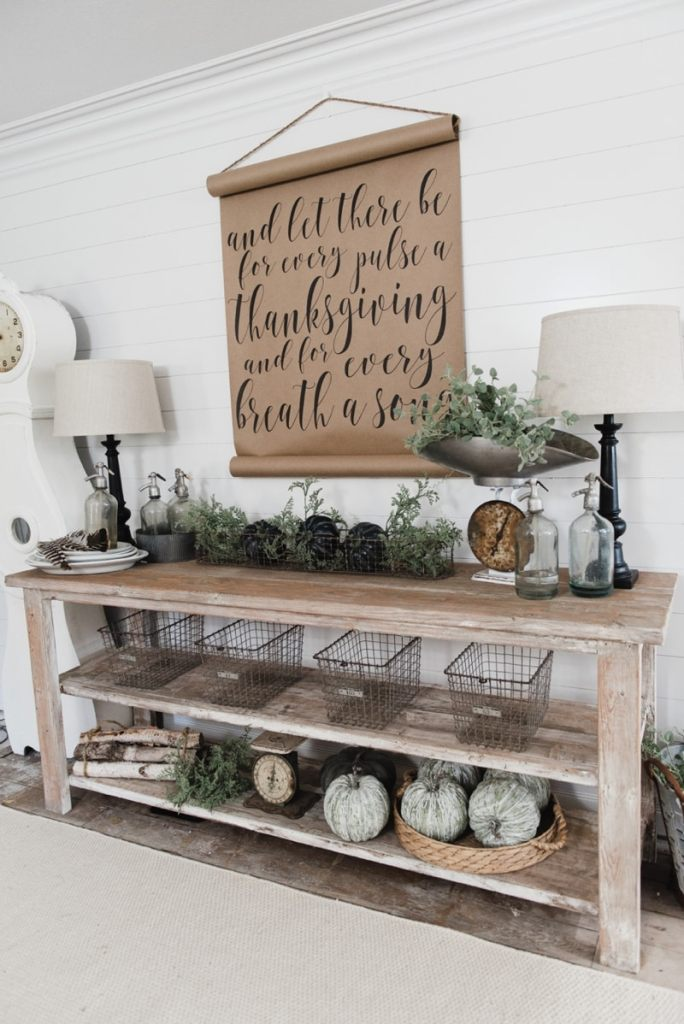 DIY Farmhouse Dining Room Buffet