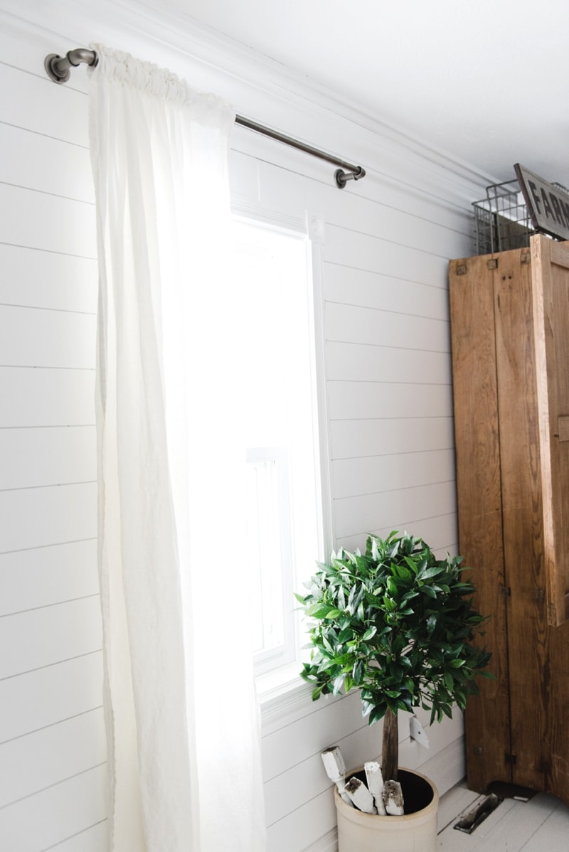 Affordable Industrial Farmhouse Pipe Curtain Rods - Liz ... on Farmhouse Curtain Ideas For Living Room  id=20736