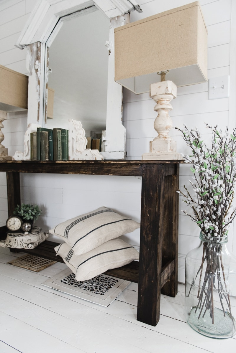 Well-liked DIY Rustic Small Console Table - Liz Marie Blog CE58