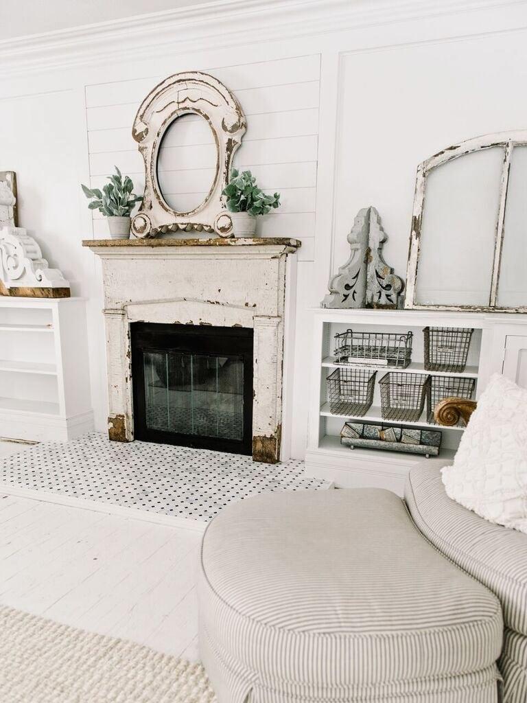 Front Living Room Fireplace Progress- Tile - Liz Marie Blog