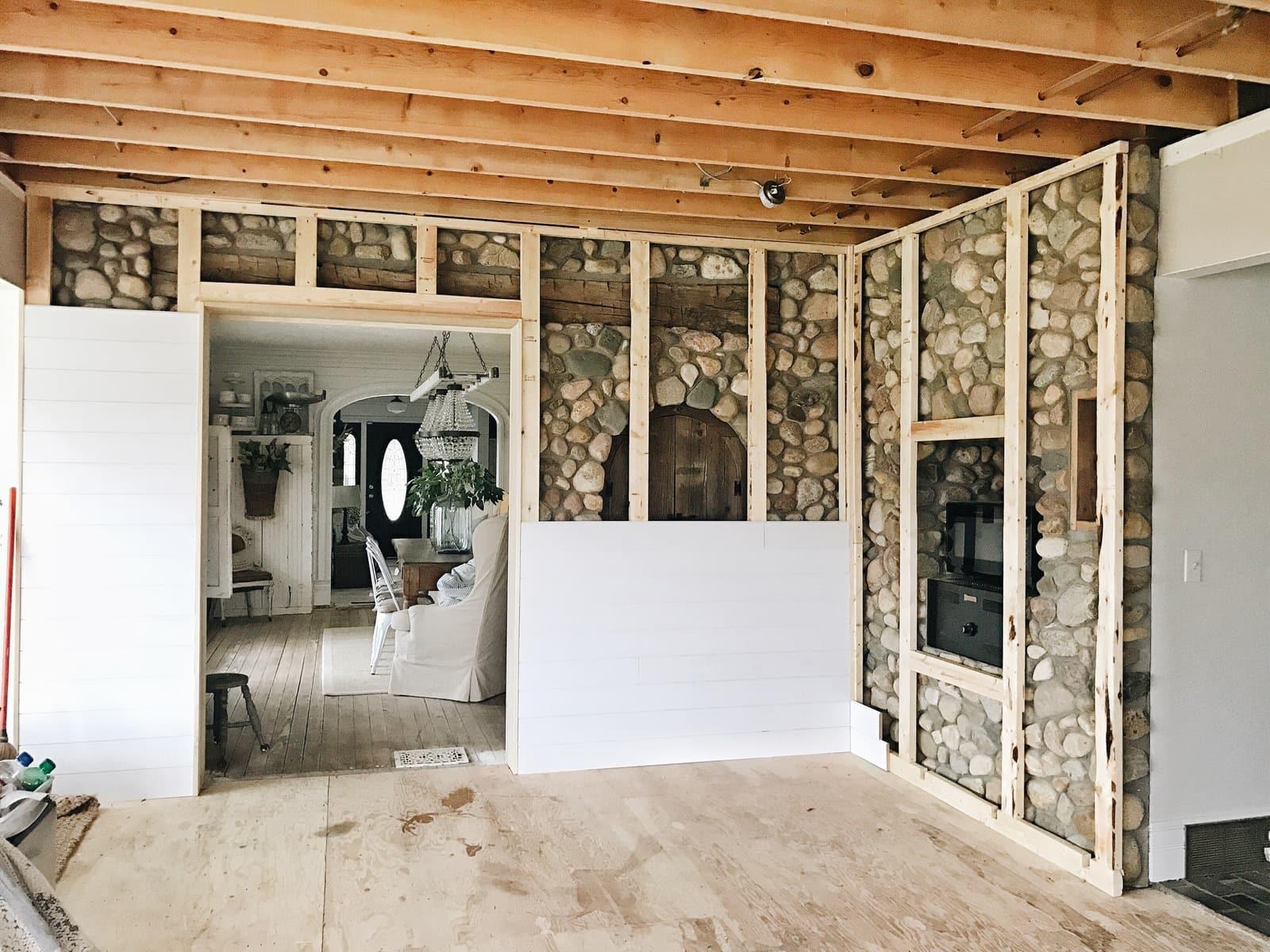 Kitchen Renovation Shiplap Wall Complete