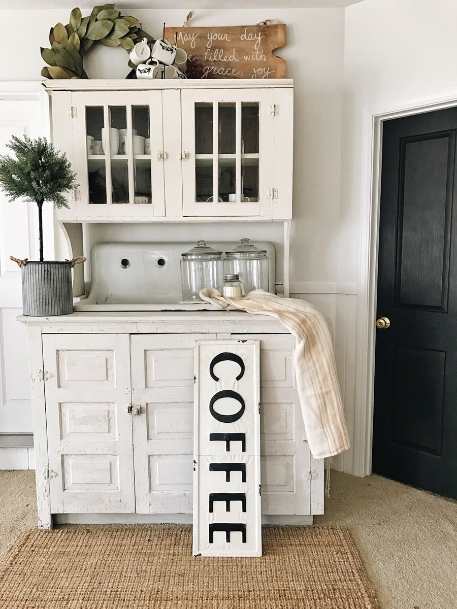 DIY Coffee Bar The Beginning Of A In Farmhouse Living Room With
