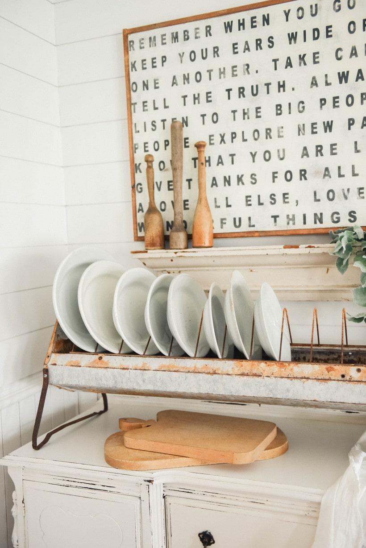 antique chicken feeder plate rack liz
