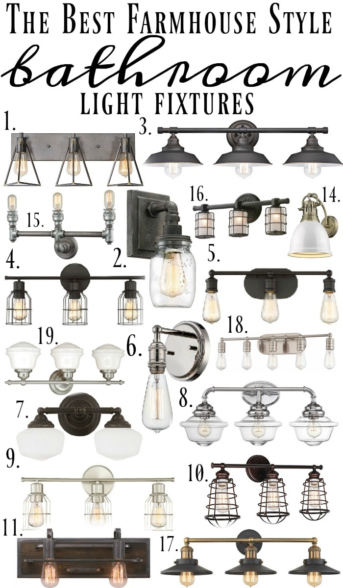 Beautiful Farmhouse Style Bathroom Light Fixtures