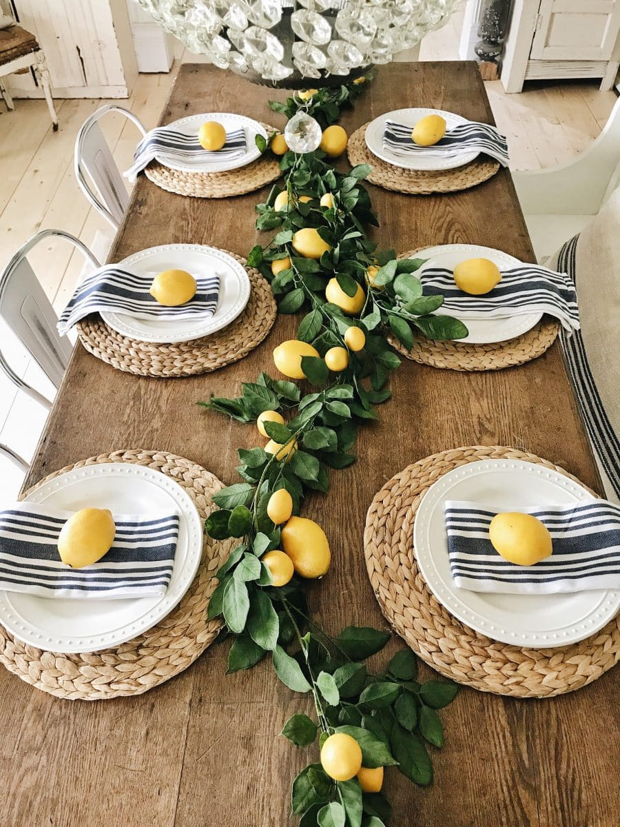 Summer Lemon Farmhouse Dining Room Liz Marie Blog