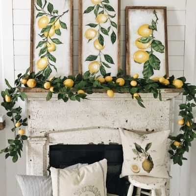 Summer Lemon Mantel – Four Ways